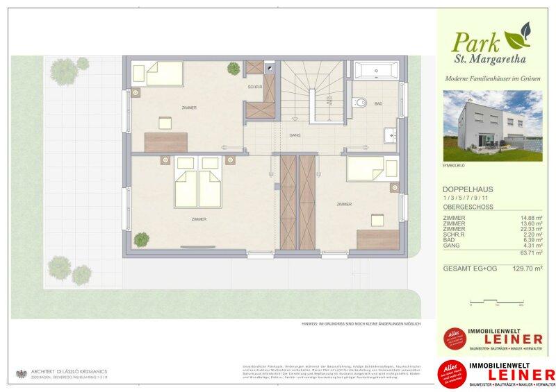 Die beste Möglichkeit Ihren Haustraum zu verwirklichen! Familienhäuser in Margarethen am Moos auf Baurecht/Wohnungseigentum Objekt_10623 Bild_504