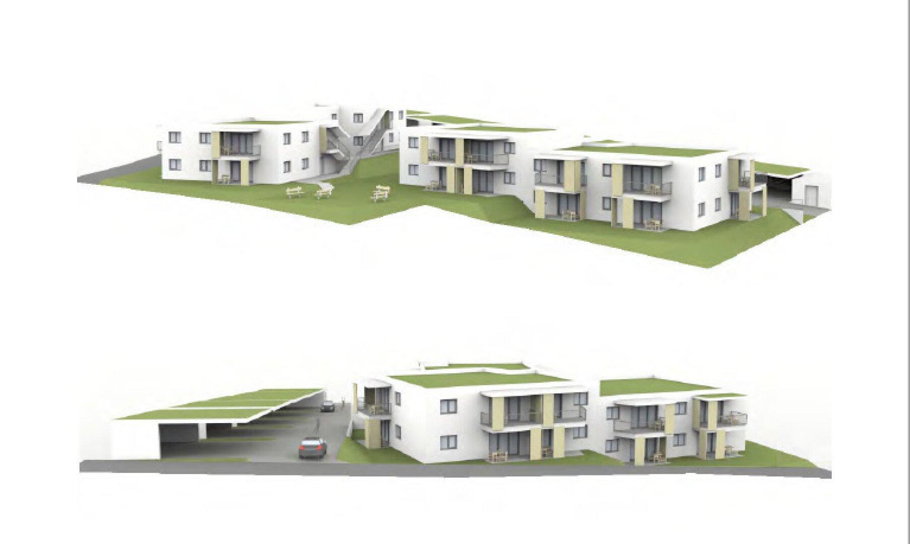 4 Häuser mit je 6 Wohnungen