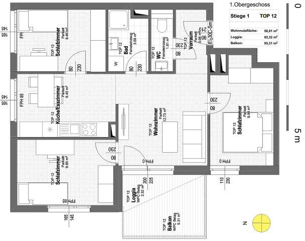 Foto von NEU! ++ ERSTBEZUG ++ NÄHE U1 ++ 41 Exklusive 2-4 Zimmer Eigentums-Wohnungen mit Freiflächen  ++ 17 PKW STELLPLÄTZE ++ RUHIGE LAGE ++ NEUBAU 2018/2019 ++ Beziehbar ab Herbst 2019 ++ 1210 Wien ++ TOP 1/12