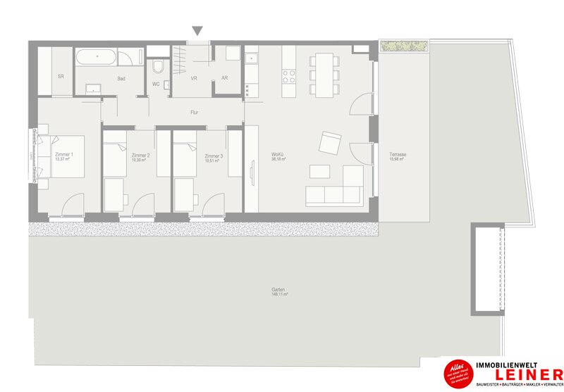 Traumhafte 4-Zimmer Gartenwohnung in Schwechat  - unbefristeter Mietvertrag! Objekt_9839 Bild_471
