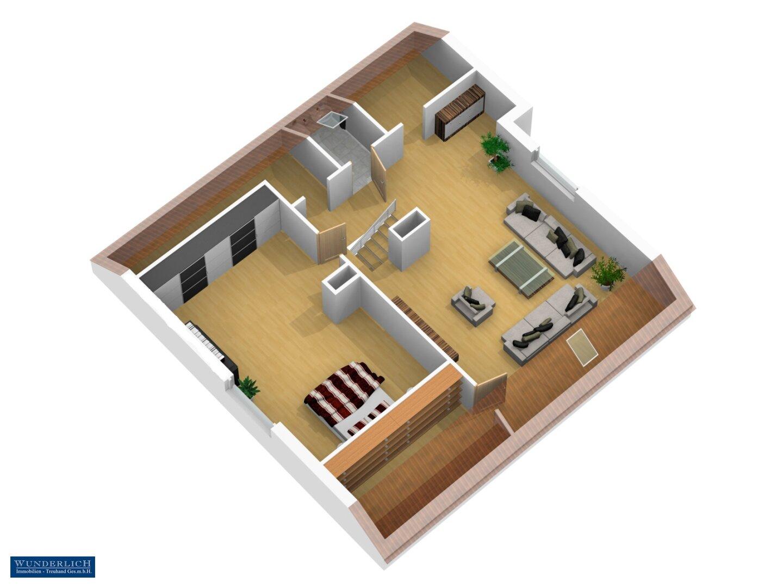 3D-Ansicht 2 Dachgeschoß