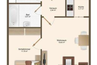2-Zimmer Wohnung in der Lentia City