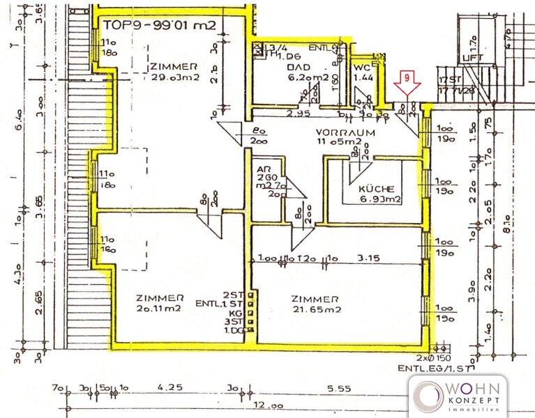 Unbefristete 99m² DG-Wohnung mit Einbauküche Nähe U1 - 1100 Wien /  / 1100Wien / Bild 0
