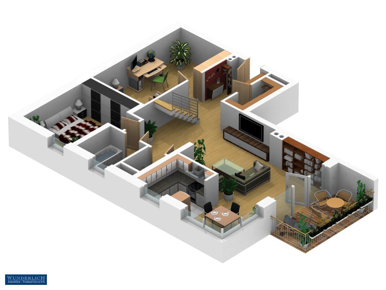 3D-Ansicht 2 - 1. Ebene