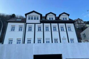 Moderne Gartenwohnung mit Fernblick und Terrasse, Erstbezug, moderne Ausstattung