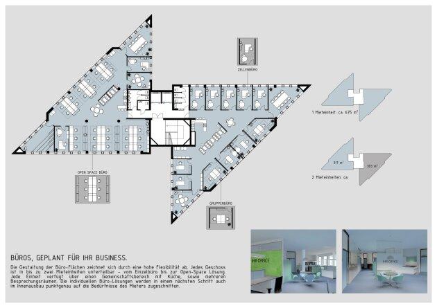 DIREKT VOM EIGENTÜMER - Bürohaus Wien Nord/ Floridsdorf mit bester Sichtbarkeit und Anbindung, Erstbezug