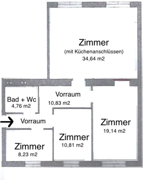 Wunderschöne 4-Zimmerwohnung Nähe Mariahilferstraße, Erstbezug nach Sanierung, alle Räume zentral begehbar, Nähe Bus 57A-Sonnenuhrgasse, U6+U3! /  / 1060Wien / Bild 10