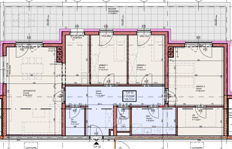 Top 32 - Freifinanzierte 4 Zimmer Wohnung mit Dachterrasse - MIETEN oder MIETKAUF /  / 2700Wiener Neustadt / Bild 4