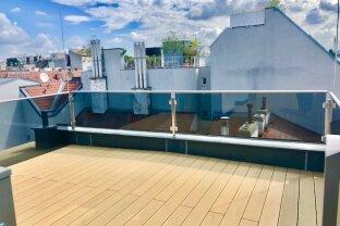 EXZELLENTE 3-Zimmer Dachgeschoß-Wohnung mit traumhafte Terrasse in Top Lage - Roßauer Lände! ERSTBEZUG!