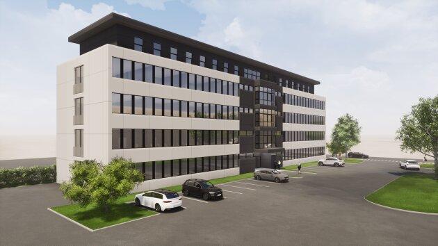 DIREKT VOM EIGENTÜMER- Neubau Bürohaus Linz Süd mit bester Sichtbarkeit, flexible Raumaufteilung