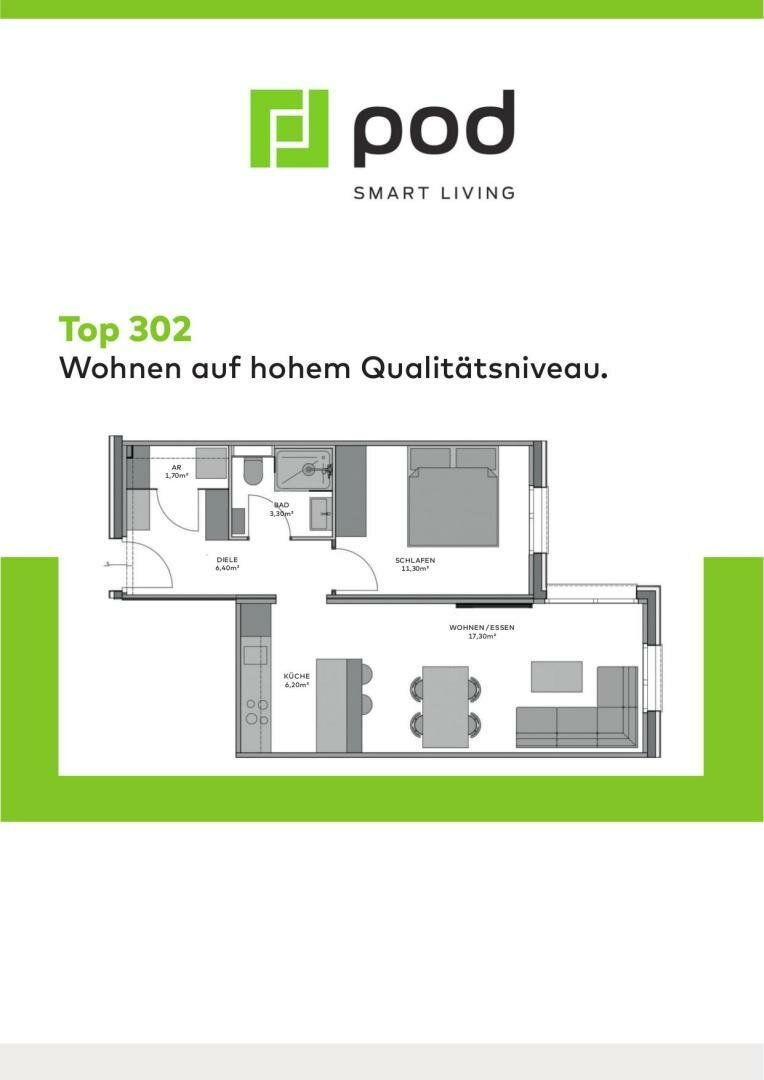 Wohnungsplan Top 302