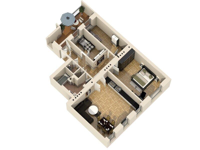ERSTBEZUG - 4 Zimmer ALTBAU top saniert - 1030 Wien - 3. OG Top 17 ------ U Bahn Nähe - LOGGIA  - Schlafzimmer Hofseitig /  / 1030Wien / Bild 11