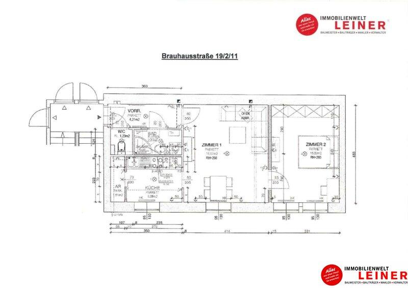 Schwechat - Rannersdorf : schöne 2 Zimmer Mietwohnung sofort beziehbar! Objekt_11410 Bild_290