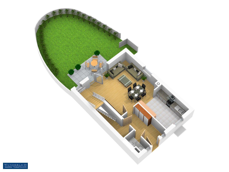 3D-Ansicht 2 Erdgeschoß