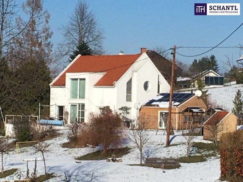 ITH # Architektenvilla mit Einliegerwohnung/Büro + Kamin + gemütlichem Saunahaus / zwischen Lieboch und Hitzendorf