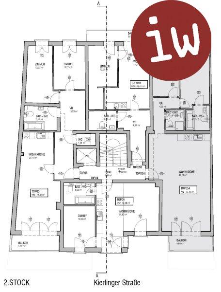 Absolute Zentrumslage, 3 Zimmer Eigentumswohnung, Terrasse, neuwertig Objekt_451 Bild_51