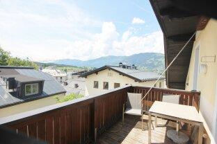 Saalfelden: Rarität über den Dächern von Saalfelden, 3 Zimmerwohnung 82m²,sonnige Terrasse, unverbaubarer Weitblick, TG