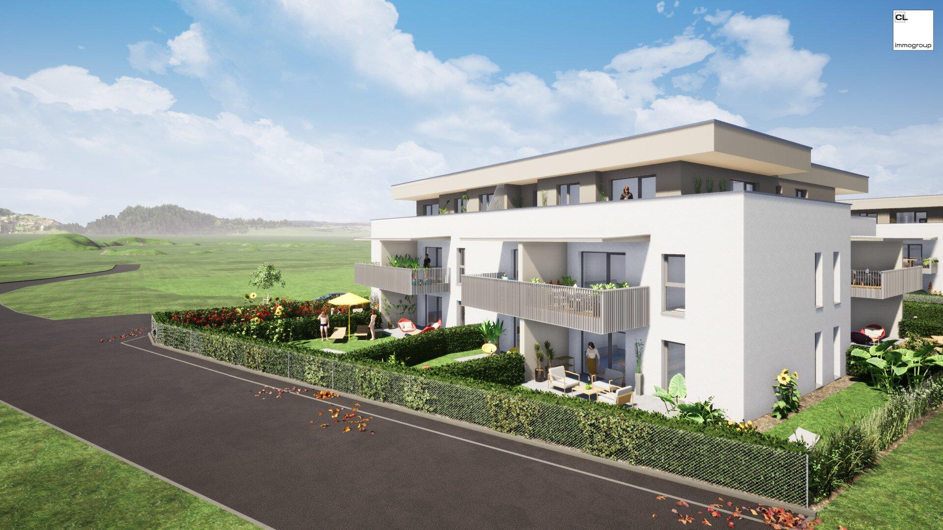 """Wohnbauprojekt """"Wohnen auf der Sonnenwiese"""" - Außenansicht"""
