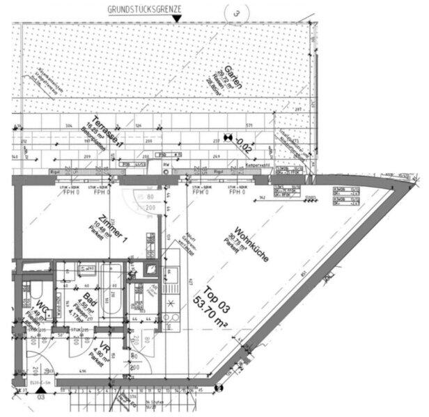 30m² GRÜNGARTEN, 30m²-Wohnküche + Schlafzimmer, Bj.2017, Obersteinergasse 19 /  / 1190Wien / Bild 10
