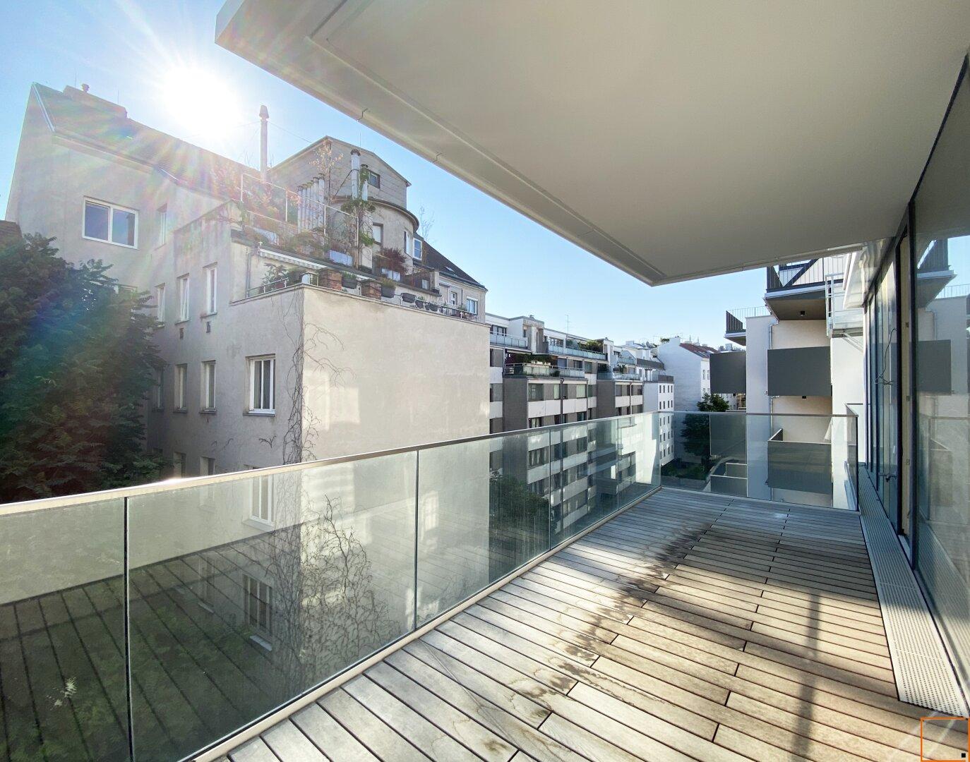 Balkon 15 m² - Morgensonne