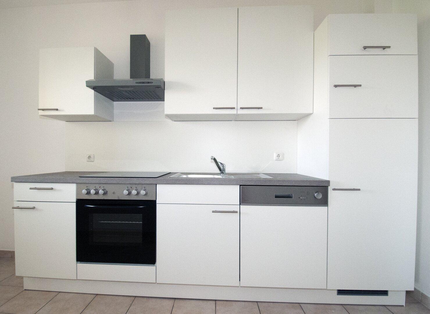 Einbauküche mit Geschirrspüler und Kühl- Gefrierschrank