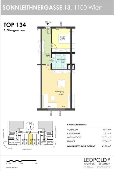 Unbefristeter Neubauerstbezug im 5. Liftstock /  / 1100Wien / Bild 1