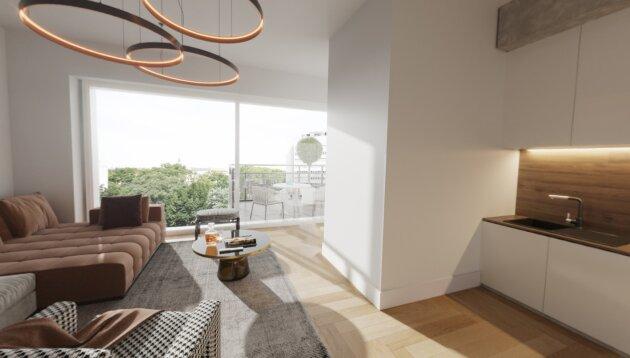 Foto von Hochwertige 2-Zimmer Dachgeschoßwohnung neben dem AKH!!