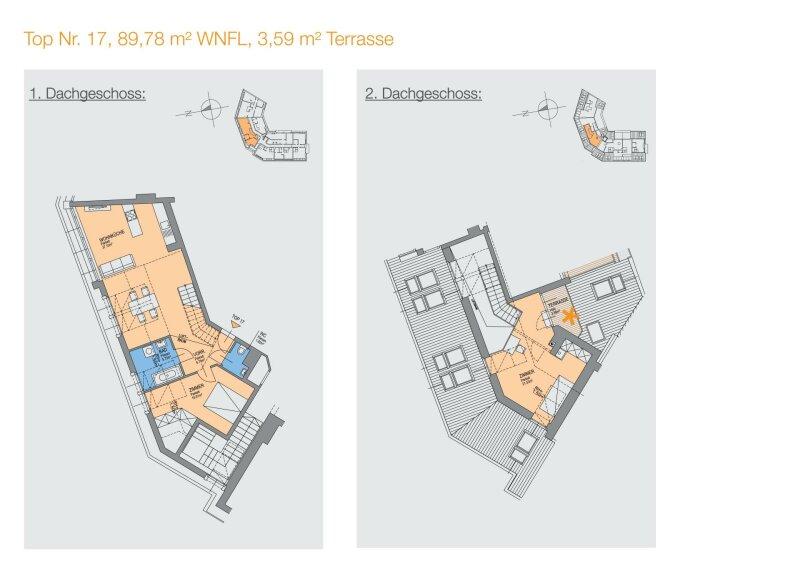 Erstbezug! Helle 3-Zimmer Wohnung mit Terrasse und traumhaften Ausblick - Zentrum Korneuburg /  / 2100Korneuburg / Bild 10