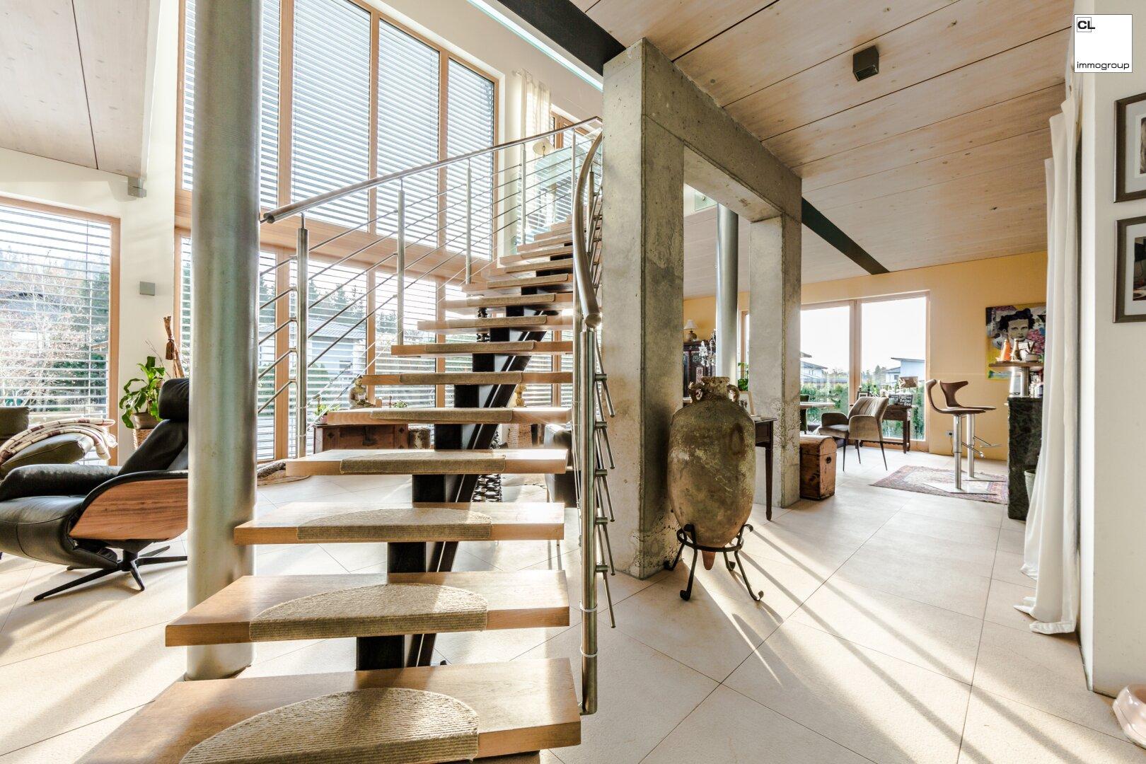 Exklusive gebogene Treppe