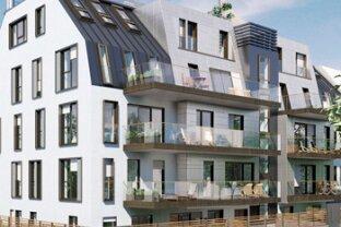 Erstbezug, klima-aktive Bauweise -  3-Zimmer-Wohnung mit großem Balkon in Döblinger Bestlage