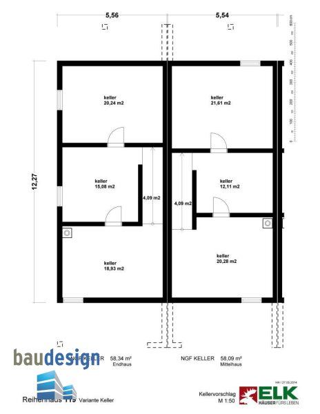 Korneuburg - exklusive Doppelhaushälfte auf Baurecht - NEUBAU /  / 2100Korneuburg / Bild 3