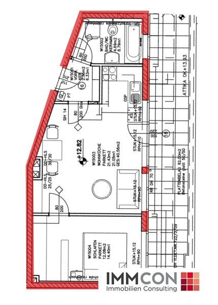 ATTRAKTIVE 2-ZIMMER-DACHGESCHOSSWOHNUNG mit großer Terrasse (Top 15) /  / 4020Linz / Bild 7