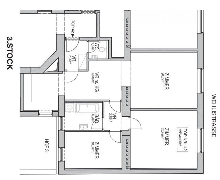 ++NEU** Kernsanierter 3-Zimmer Altbau-Erstbezug, sehr guter Grundriss! ***Videobesichtigung*** /  / 1200Wien / Bild 19