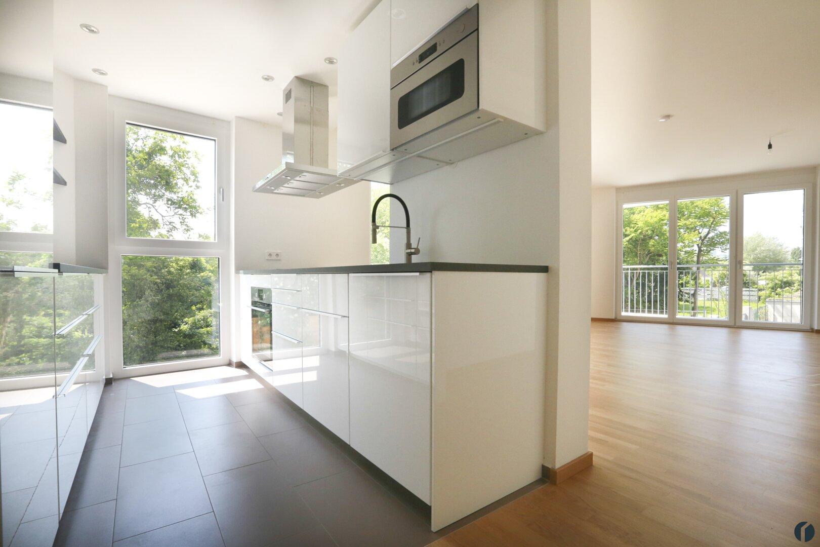 moderne Küche in Hochglanzoptik