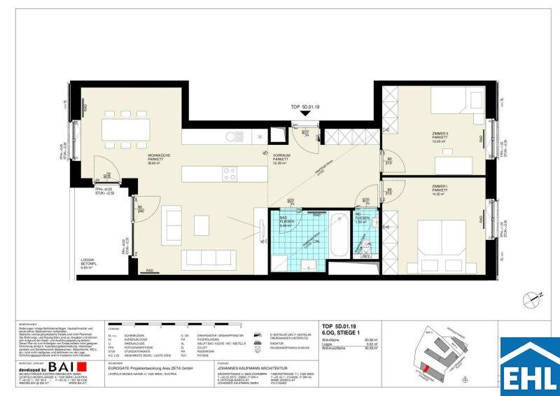 EUROGATE: Wunderschöne 3 Zimmerwohnung mit Loggia in zentraler Lage /  / 1030Wien / Bild 3