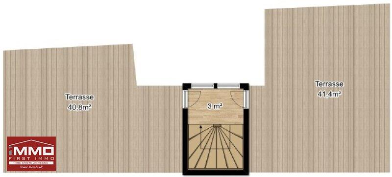 PRACHTVOLLES PENTHOUSE MIT 3 TERRASSEN UND 360° PANORAMABLICK! ALLEIN AM DACH! /  / 1070Wien / Bild 9