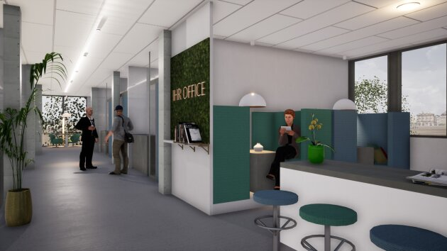 DIREKT VOM EIGENTÜMER - Neubau Bürohaus Linz Süd mit bester Sichtbarkeit, flexible Raumaufteilung