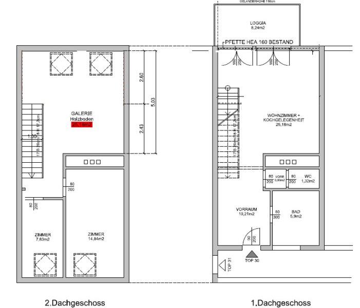 Hochwertige DG Wohnung mit Balkon und Designküche! /  / 1160Wien / Bild 3