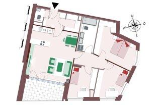 Genial geplante 4-Zimmer Familienwohnung mit großer Loggia