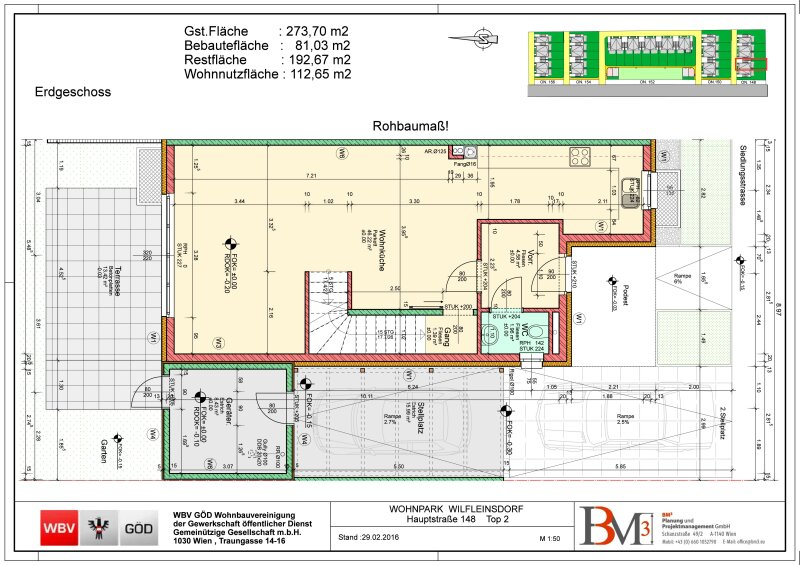 Direkt vom Bauträger- 10 neu errichtete DH-Hälften mit Garten, gelegen in Wilfleinsdorf bei Wien /  / 2462Wilfleinsdorf / Bild 9