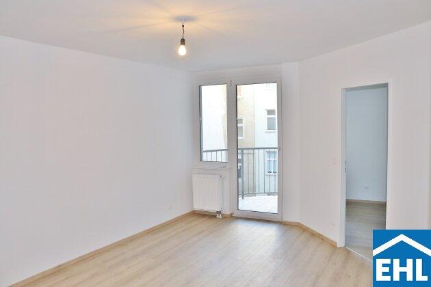 Hofseitige 2-Zimmerwohnung mit Freifläche!
