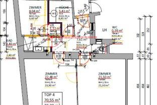 Optimal aufgeteilte 3 Zimmer Wohnung mit extra Küche
