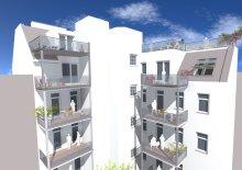 Beeindruckende Dachgeschosswohnung mit Freifläche zum Innenhof! Erstbezug!