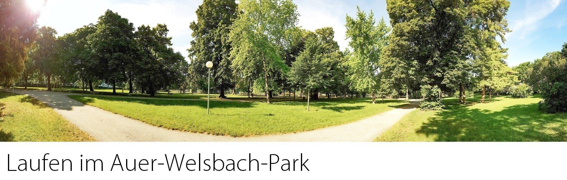 Laufen im Auer-Welsbach-Park