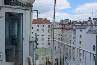 Schöne 2,5 Zimmer DG-Wohnung mit Loggia, Wintergarten und Terrasse - Nahe Reumannplatz