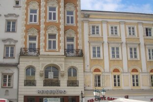 Hauptplatz Linz! Ruhige 3-Zimmerwohnung mit Dachterrasse, 87,2 m² WNFL, Küche inkl. Geräte möbliert (ohne Ablöse)!
