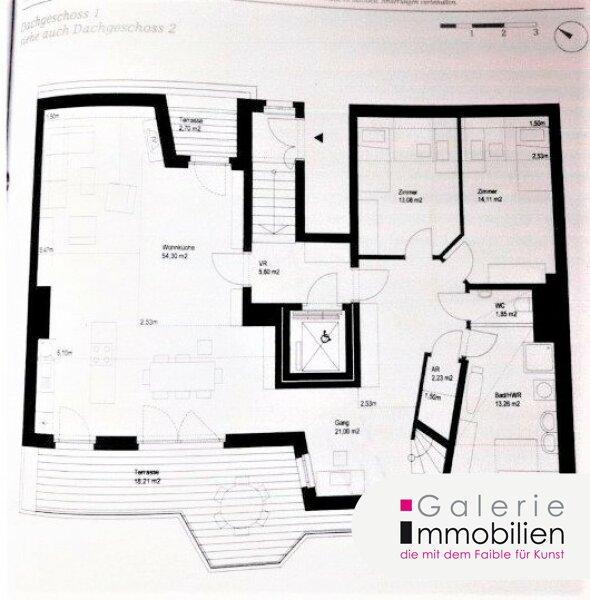 Außergewöhnliche DG-Wohnung mit Terrasse auf Wohnebene - Garagenplatz Objekt_34973 Bild_80