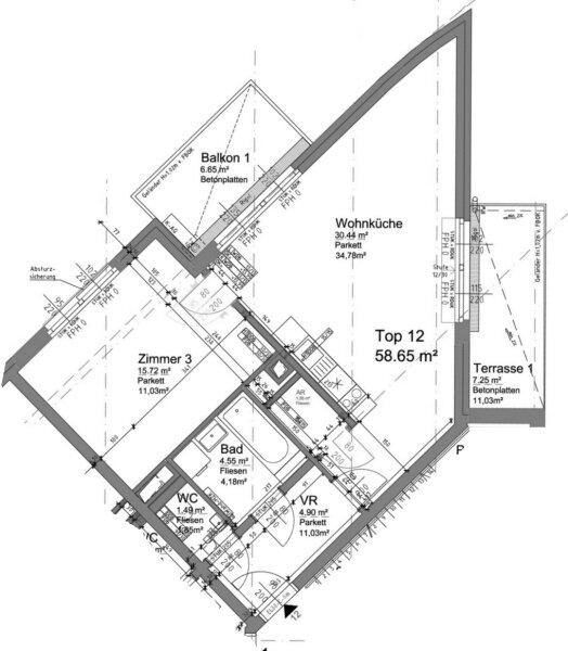 Terrasse  U N D  Balkon!! 30m²-Wohnküche + Schlafzimmer, 3.Stock Bj. 2017, Obersteinergasse 19 /  / 1190Wien / Bild 5