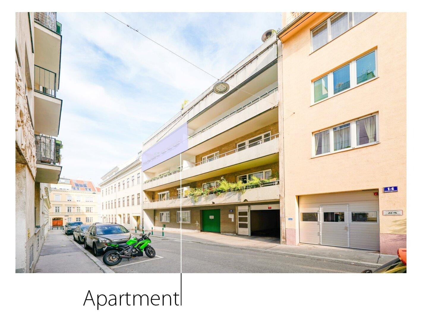 Fassade & Lage der Wohnung