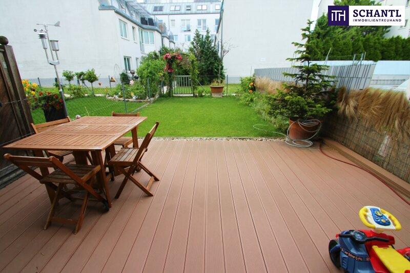 Idyllische Gartenwohnung in absoluter Ruhelage! 4 getrennt begehbare Zimmer + Beste Infrastruktur + Ideale öffentliche Anbindung!